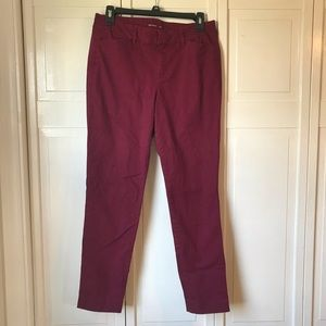 Old Navy Pixie Style Maroon Pants, size 6